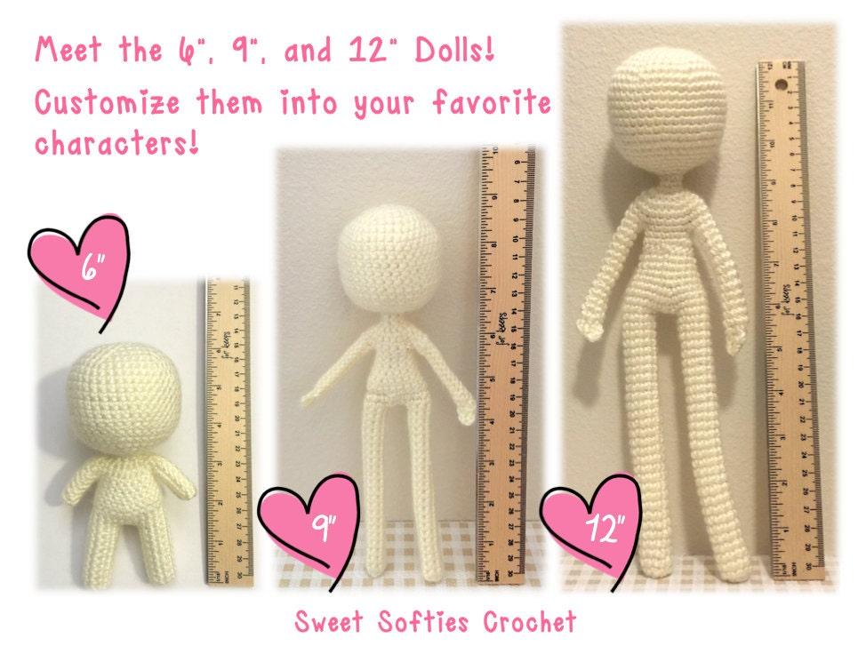 Base de cuerpo humano amigurumi Crochet patrones 6 | Etsy