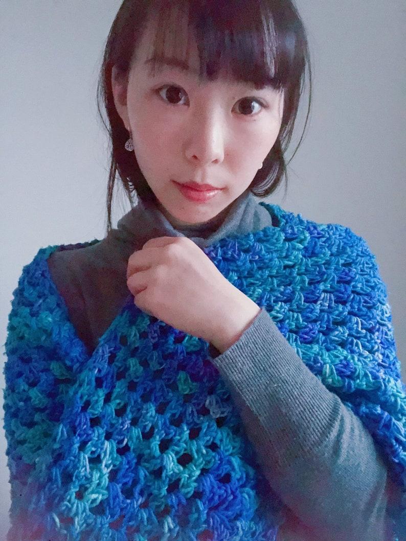 Free Crochet Pattern Sapphire Love Shawl Triangle Scarf Etsy