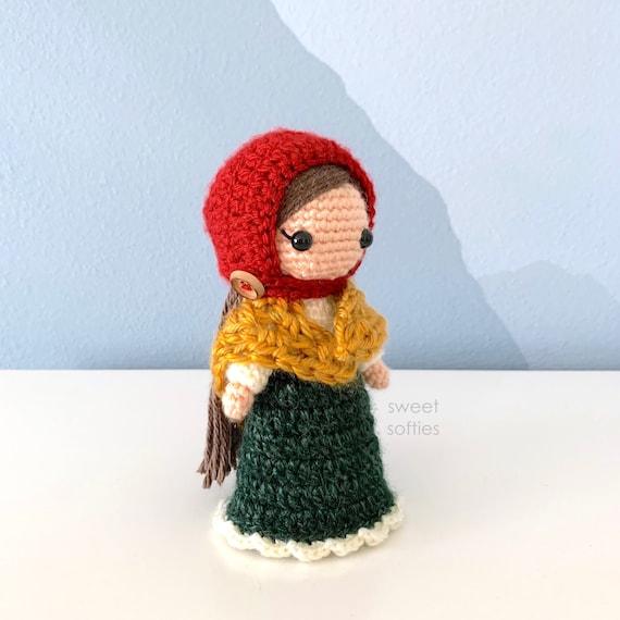 DIY Tutorial cute yarn project girl lady woman female stuffed toy Fleur the Flower Maiden ANGEL Edition Amigurumi Doll Crochet Pattern