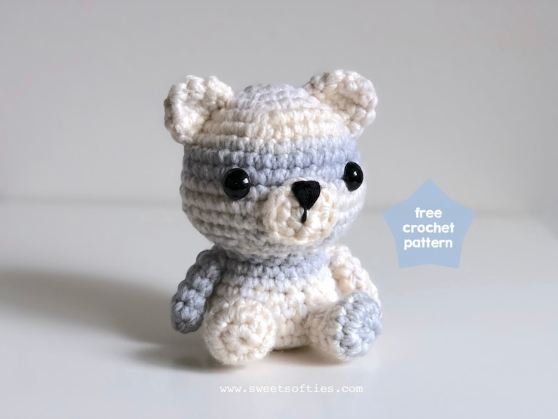 Free Amigurumi Crochet Pattern Tutorial Peyton The Polar Bear Etsy