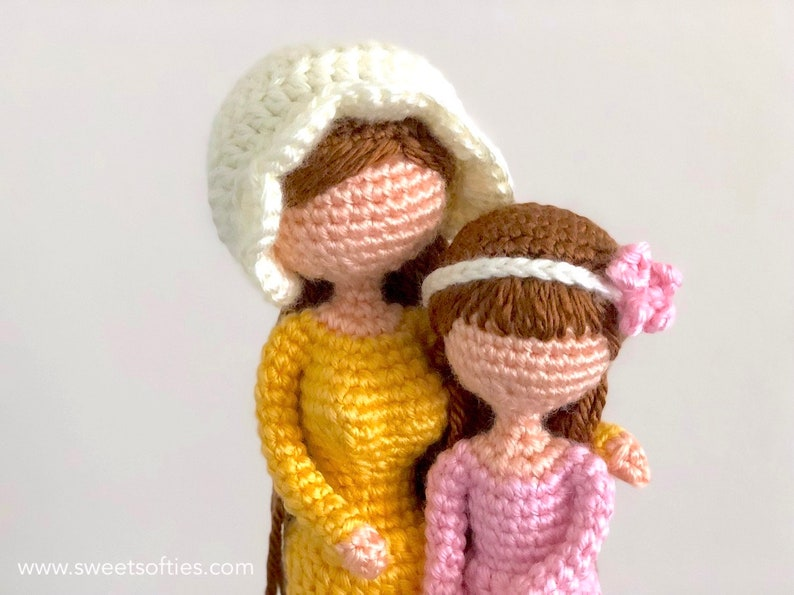 5dc1b601c Mother   Daughter Amigurumi Crochet Pattern Tutorial Willow