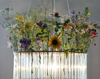 Maria S.C. single test tubes chandelier / lamp / // vase / floral decoration