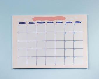 Monthly open calendar ~ Frannerd