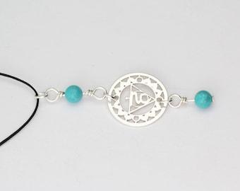 Throat Chakra Necklace, Chakra Choker, Turquoise Chakra Necklace, Fifth Chakra, Yoga Necklace, Communication Necklace