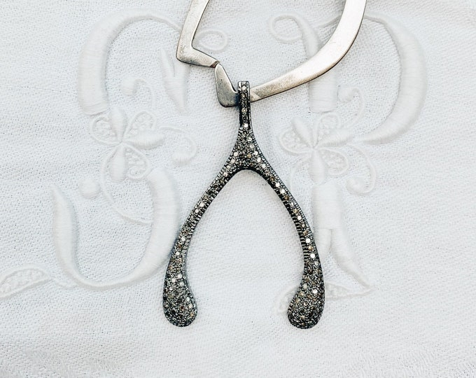 Large Diamond Wishbone Pendant