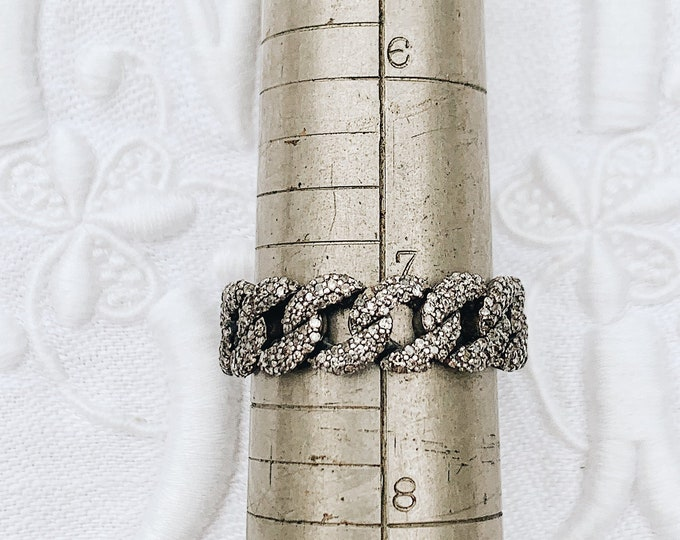 Diamond Curb Chain Ring