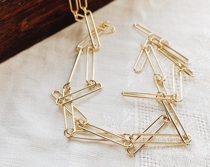 Clip Chain Necklace, Gold fill