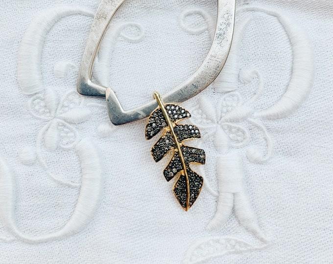 Diamond Leaf Charm