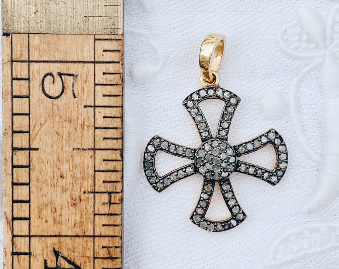 Diamond Samaritan Cross Pendant
