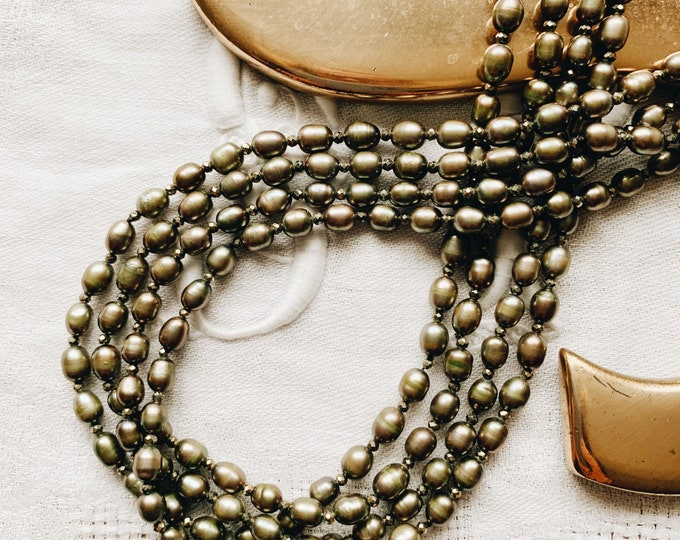 Pearl & Gemstone Infinity Necklace