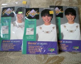 3 Gem Wear Iron On Transfer Kits