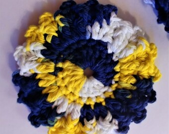 Crocheted Coasters, Handmade, Cottage Decor