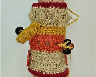 Crochet fidget cuff, Alzheimer's, Twiddle cuff, Wrist Cuff, Special Needs, Dementia, Sensory Activity Muff, Autism, Restless Fingers, OOAK
