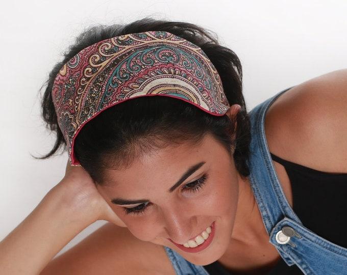 Wide Tropical Bandana Headband For Teens