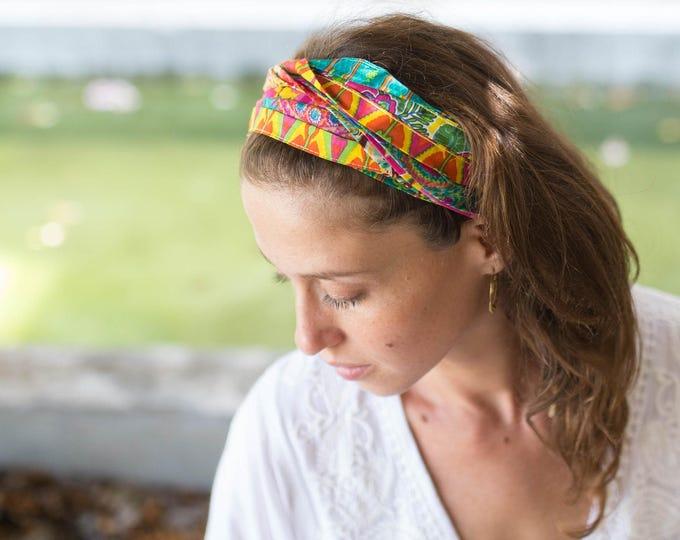 Festival Headband, Hair Bands For Women, Bohemian Head Wrap, Boho Hair Accessories, Hippie Headband, Tribal Headband, Bandana Head Wrap