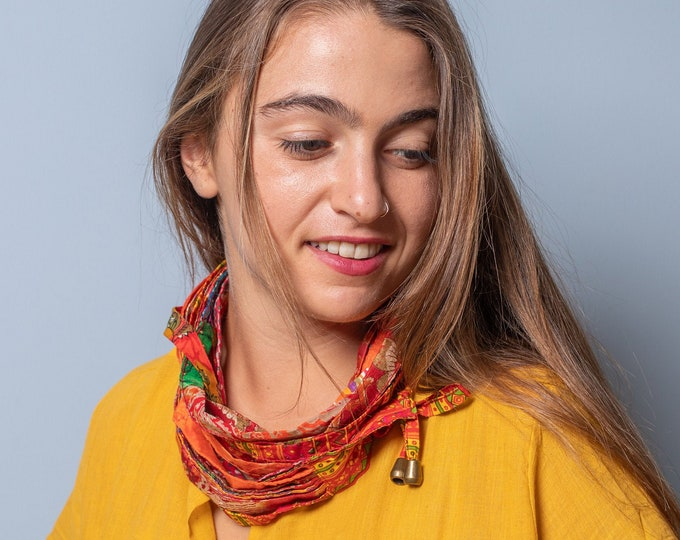 Women's Day Gift/Sood/Circle/Eternity Scarf/Reversible Scarf/Neckerchief