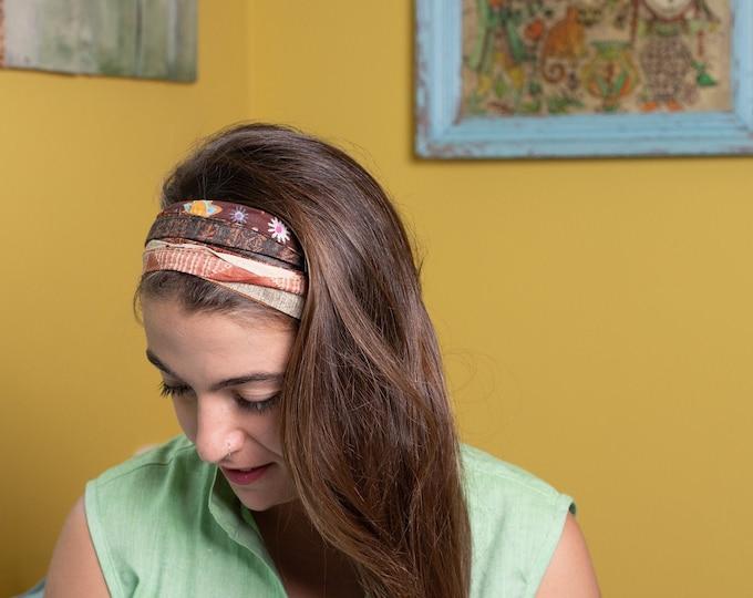 Brown splendid hair scarf for women