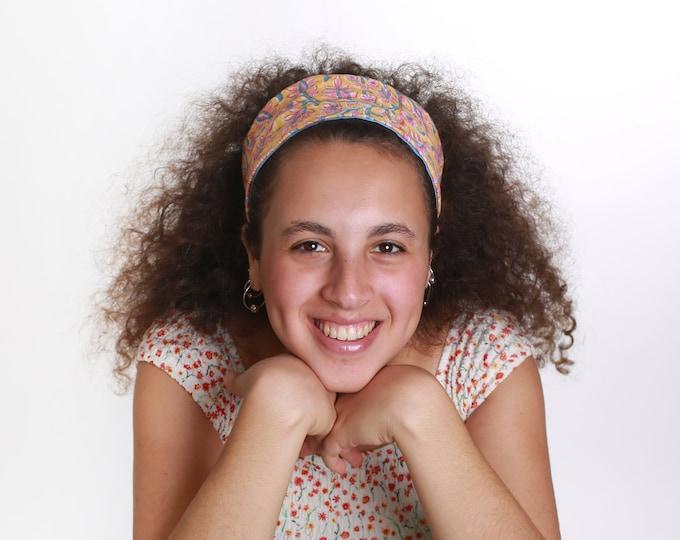 Wide floral headband cotton headbands teen girl gift