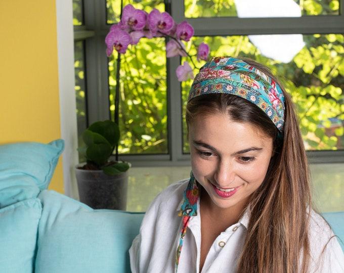 Hair Accessories For Women, Blue Headband, Boho Head Wrap, Gypsy Headband, Fabric Headband, Head Wrap, Scarf Headband, Christmas Presents