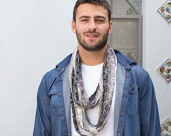 Boho chic festival scarf/necklace