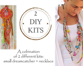 DIY Dream Catcher Kit, DIY Jewelry Kit, 2 in 1 Diy Kit, Diy Gift, Diy Crafts, Diy Box, Girl and Mom, Gifts For Mom From Daughter