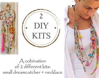Dreamcatcher Kit, DIY Dream Catcher Kit, Jewelry Making Kit, DIY Jewelry Kit, Craft Projects, Diy Craft, Diy Project, Unique Handmade Kits