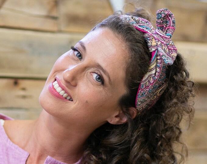 Hippie/boho/gypsy wide twist headband