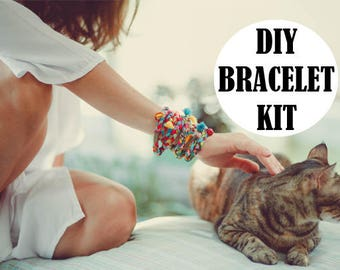 Diy Wrap Bracelet Diy Bracelet Kit Tassel Bracelet Bracelet Etsy