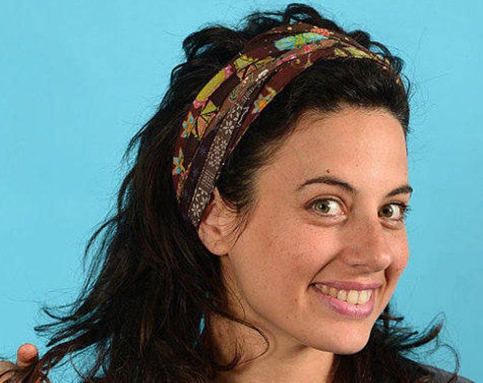 Colorful Headband, Boho Head Wrap, Gypsy Headband, Hippie Headband, Women Headband, Turban Head Wrap, Wide Cloth Headband, Hair Scarf