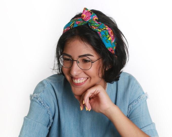 Bold tropical headband wire hair wrap for Teen Girls
