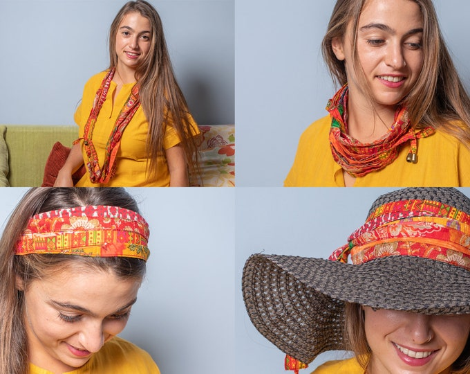 statement fabric necklace , circle scarf