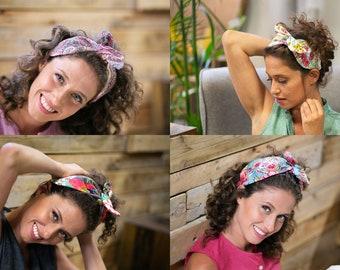 Bow Headband, Colorful Cotton Fabric Headband, Hair Band For Women, Adult Headband, Summer Headband, Vintage 60s Headband, Stylish Headband