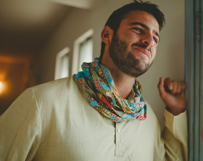 Infinity scarf for man