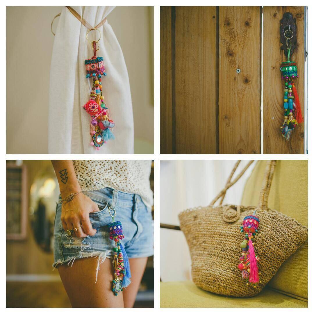 Charme coloré porte-clé, Hippie-clé, pompon pompon pompon 4 porte-clé Kits DIY, accessoire de sac Boho, l'artisanat Kits, Kit de bricolage pour les filles, porte-clé sac bricolage 7f3e29