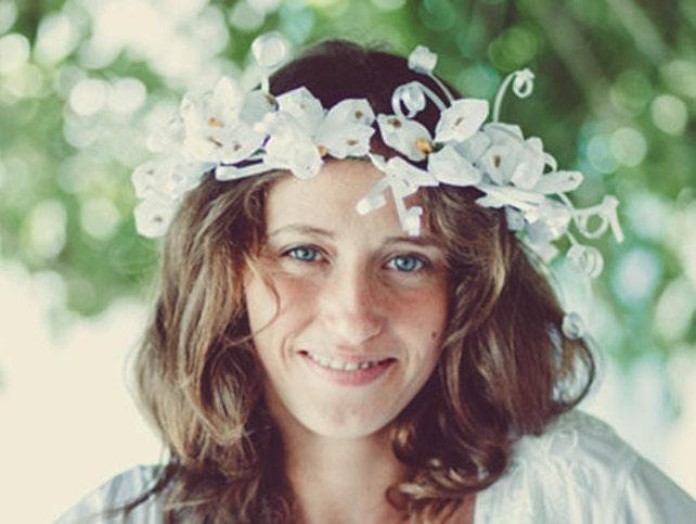 White Flower Crown DIY Flower Crown Make Your Crown Floral   Etsy