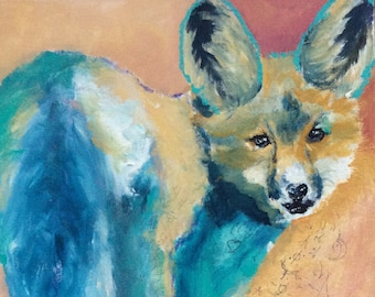 Force Of Love Fox Giclee Print Archival Inks Premium luster paper Power of Love Compassion Strength Kindness Love Pat Gullett