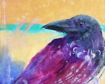 RAVEN SPEAK Giclee Archival Ink Print New Moon takes you on the Inner Journey, to Soul, to Heart, to Truth, Empower, Pat Gullett