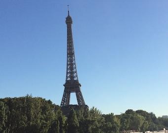 Paris View Instant Digital Download of my Paris Trip Photo Eiffel Tower Bateaux on River Seine Home Decor Gifts PGullett