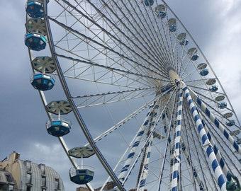 Paris Ferris Wheel Instant Digital Download of my Original Photo Tuileries Louvre Yard Home Decor Gift Fun Games PGullett