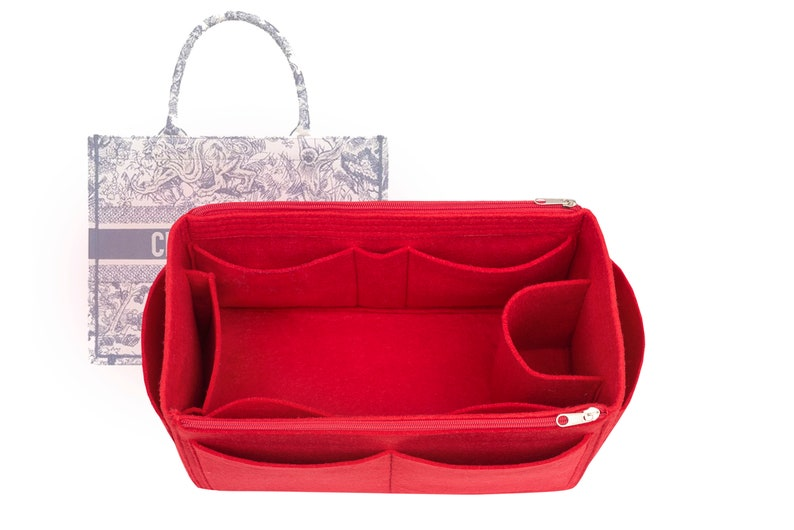 For L 2-5days V Bags bag insert shaper purse insert organizer with Ipad place and zippered flap,EXPRESS SHIPPING