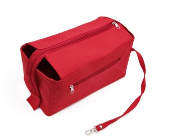 """For """"Bag"""" Purse Insert Stabil Structure Extra Deep Large Pockets Zippered Flap, Worldwide-Shipping 4-6 Days"""