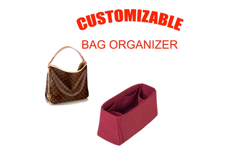 9732390cc53 LV Delightful pm mm gm bag insert organizer with tablet sleeve bordeaux -  Express shipping
