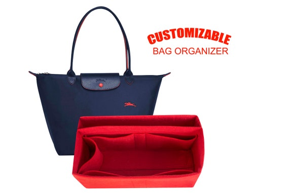 For LARGE Long. champ le pliage long strap tote bag organizer Fits Cuir,Nylon,Neo,Clup styles purse insert organizer Express shipping