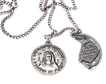 Our Lady Of Loretto Air Travel Protection Catholic Medal MIZPAH RIGHT HALF  -Sterling -Hebrew Jewish Religious Medallion-Husband Wife Coin 7e02fb660d5
