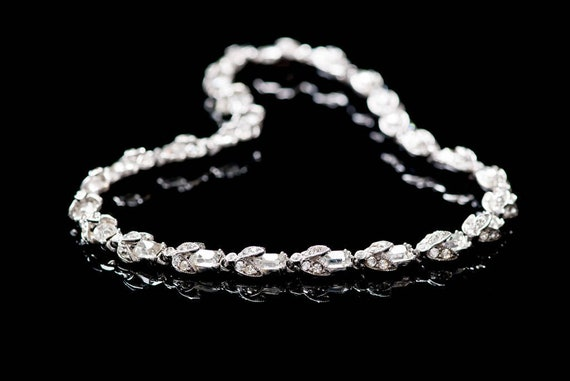 Bogoff Necklace Rhinestone Choker Designer Choker