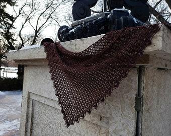 Crochet PATTERN - Speranza Asymmetric Triangle Shawl Lace Oscar Wilde