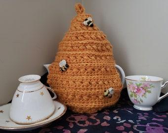 Crochet PATTERN - Tea & Honey Tea Cozy / Recipe