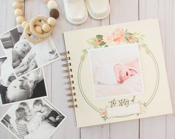 Watercolor Floral Baby Book. Personalized Baby Book. Baby Book Girl. Baby Shower Gift. Custom Baby Book. Personalized Baby Gift. Baby Book.