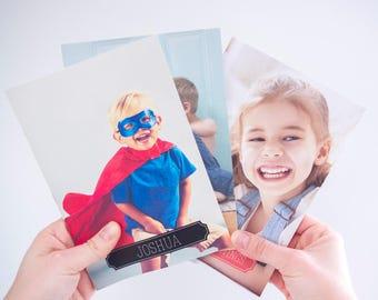 Personalized Mini Photo Notebooks (set of 3). Kid Notebook. Personalized Notebook. Personalized Notebook Cover. Mini Blank Book.
