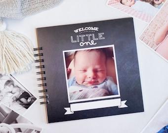 Baby Book: Chalkboard Gender Neutral | Modern Personalized Baby Shower Gift Simple Baby Book Journal Album Pregnancy Gift